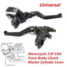 """Adjustable Motorcycle 7/8""""CNC Front Brake Clutch Master Cylinder Lever Reservoir"""