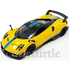 Kinsmart Pagani Huayra BC Livery Edition 1:38 KT5400DF Yellow with Stripes