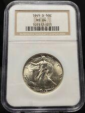 1945-D 50c Walking Liberty Half Dollar NGC MS64 (2944)
