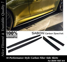 2015 16 BMW F82 M4 Side Skirts Extensions M Performance Style - Carbon Fiber CF