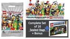 LEGO 71027 series 20 Minifigures Set of 16 Sealed + 30394 Minecraft Polybag