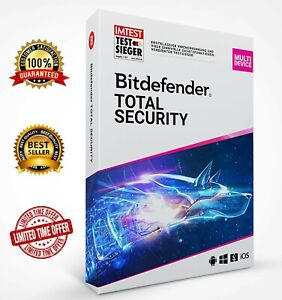 Bitdefender Total Security 2021 (5 devices) 6 MONTHS ✔️ FULL EDITION + VPN 🔥