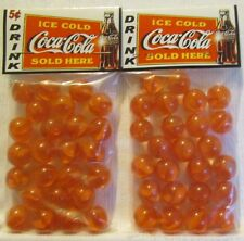 2 Bags Of Drink Coca Cola Ice Cold 5 Cent Soda Promo Marbles