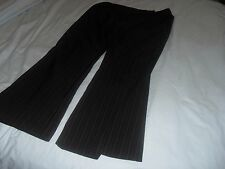 Ladies black stripped trousers size 18 96% polyster & 4% elastine