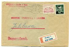 Czechoslovakia Praha-1 Registered Cover 3.VII 1951