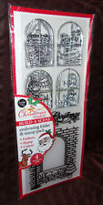 2017 card making Build-A-Scene Christmas Window embossing folder & 4 stamp pack