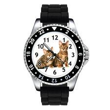 California Spangled Kitten Cat Unisex Mens Ladies Silicone Band Wrist Watch Se62