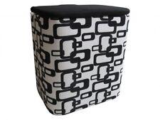 Wäschekorb  schwarz/weiß groß Wäschetruhe Wäschesammler Wäschebox Wäschebehälter
