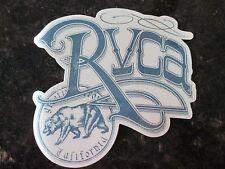 "Authentic RVCA Sticker California BEAR Clear background BLUE 5 3/4"" x 5 1/2"""