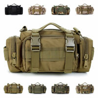 Tactical Military Molle Hip Bum Bag Waist Pack SWAT Police Camo Hunting Airsoft