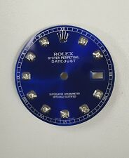 Rolex Men's Datejust Quickset Candy Blue Custom Diamond Dial S-S