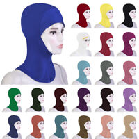 New Women Under Scarf Cap Bone Bonnet Ninja Hijab Islamic Neck Cover Muslim Wrap