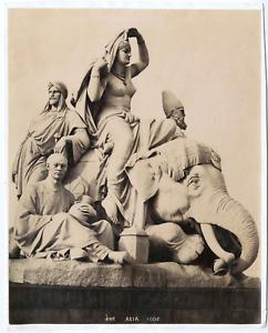 Sculpture Asia, F.G.O.S Vintage albumen print, Tirage albuminé  18x23  Cir