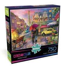 Cities in Color RAINING IN PARIS 750 Piece Puzzle Buffalo Games