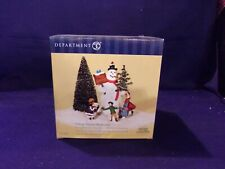 "Dept. 56 Heritage Village Collection ""Village Square Snowman"" #58638 Nib"