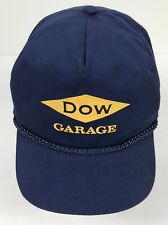 Vintage Dow Garage Chemical Company Midland MI Hat Blue Unique Strap Closure