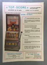 VTG SLOT MACHINE FLYER - TOP SCORE - GAME, GAMES BRUSSEL, BELGIUM, 1980s