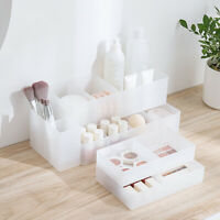Clear Plastic Cosmetic Organizer Makeup Case Holder Drawers Jewellry Storage Box