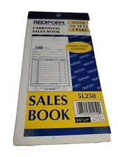 "Sales Book 3 2/3"" X 7"" ~50 SET ~ 3 PART COPIES"