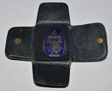 Vintage 1937 Art Deco Second Place Police Gun Shooting Award Medal Hanley Match