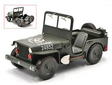 Hand Made 1:12 Model Car Jeep Williys MB - Retro Tin Model Home Office Decor