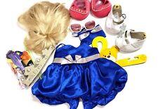 Lot Build A Bear Clothing, Dress, Shoes, Glasses, Wig, Bows