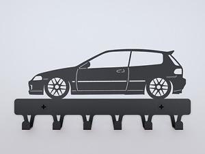 Honda Civic EG6 metal wall key hanger tool rack birthday gift KUSTOM hook omni