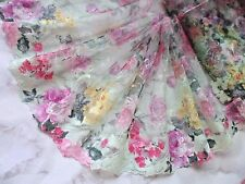 """1Y~8""""~Nets Venise Embroidered Floral Bunch Wedding Dress Mutli-color"""