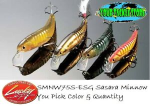 Lucky Craft SMNW75S-ESG Sasara Minnow 75S Pick Color&Qty 5%OFF @x4
