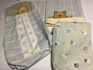 Disney, Winnie The Pooh, Hanging Diaper Bag,  Valance Curtain, Crib Sheet