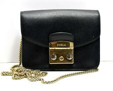 FURLA Metropolis Womens Mini Crossbody Bag Black