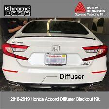 2018/2020 Honda Accord Sedan Rear Diffuser Blackout
