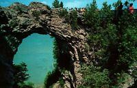 Mackinac Island Michigan Arch Rock Vintage Postcard