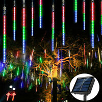 144LED Meteor Shower Lights Falling Rain Icicle Outdoor Christmas Wedding Decor