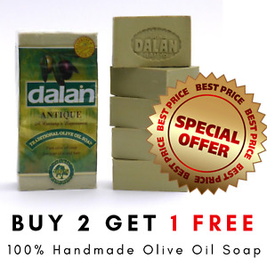 Turkish Dalan Pure Olive Oil 5x180g 100% Natural Hand Made Eczema Soap Body Face