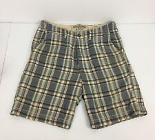 Abercrombie Fitch Mens 32 Shorts Bermuda Cargo Plaid Check Multicolor Distressed