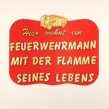 drôle panneau pour porte POMPIER Génial idée cadeau service d'incendie