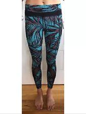 Lululemon Size 8 Inspire Tight II Pants PLMU Teal Blue Black Run NWT Crop Speed