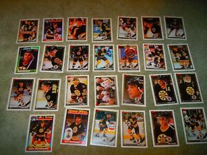 1991-92 TOPPS BOSTON BRUINS TEAM SET(27)  NM
