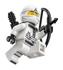 LEGO Ninjago Movie Spinjitzu Training White Ninja Zane Minifigure (70606, 70615)