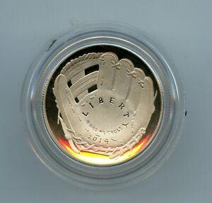 2014-S Proof 50c Baseball Hall of Fame Commemorative Half Dollar Coin