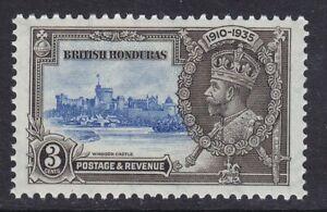 BRITISH HONDURAS SG143 3c 1935 SILVER JUBILEE UNMOUNTED MINT