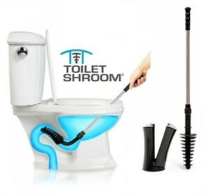 ToiletShroom® Revolutionary Toilet Plunger Plus Squeegee for Clogs by TubShroom