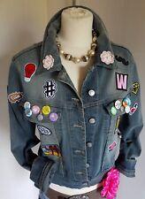 DIY Jeans Jacke Patches Buttons Rockabilly M BLOG Swag Festival Schmutz Finish