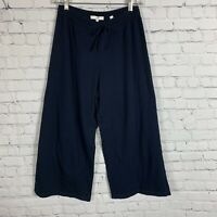 VINCE Wide Leg Cropped Pant  Blue Size Small