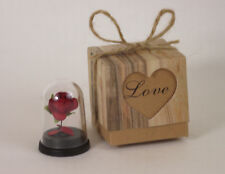 Miniature Red Rose in a Glass Dome