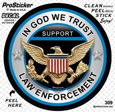 "ProSticker 309 (One) 4"" In God We Trust Support Law Enforcement Decal Sticker"