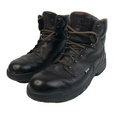 "Mens 13 M Timberland PRO Powerfit 8"" Leather Work Boots Brown Waterproof Shoes"