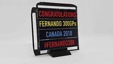 FRG 1/18 Scale F1™ 2018 Fernando Alonso 300GP Congratulations Model PitBoard