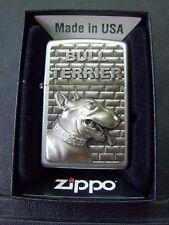 Zippo Sturmfeuerzeug Bull Terrier Emblem